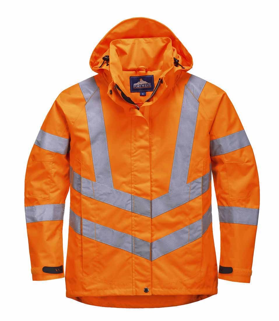 Portwest LW70ORRXXL Ladies HiVis Breathable Jacket, 2X-Large, Orange