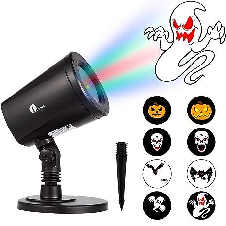 amazon com 1byone gif slide halloween led projector auto switching