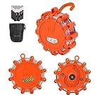 Coquimbo 3er-Set LED-Warnlicht, warnleuchte mit Magnet, Rundum-Warnblinkleuchte mit roten & weißen LED, 5 Leuchtmodi wasserdicht Blinkend Warnlicht für Auto und Fahrrad