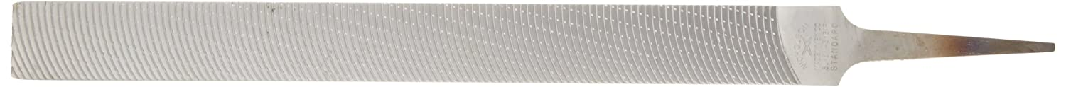 12-Inch Length Nicholson Hand File American Pattern Angled Curved Cut Rectangular