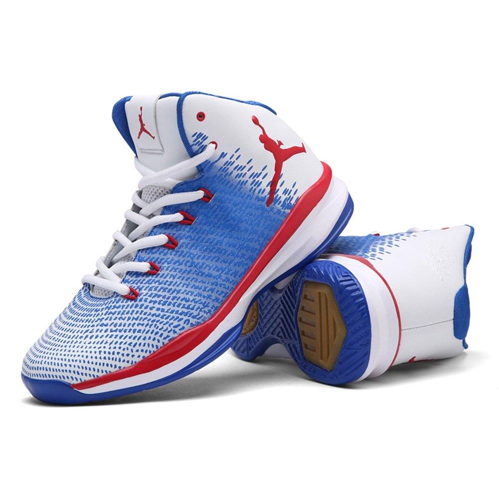 HUAN 2018 Nouvelles Chaussures de Basket-Ball de Printemps Chaussures de Basket-Ball D'Automne Haut-Bas Sneakers Anti-Dérapant Résistant à L'Usure (Color : A, Taille : 37)