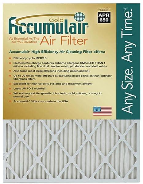 Nordic Pure 19x21x1 Exact MERV 12 Tru Mini Pleat AC Furnace Air Filters 2 Pack