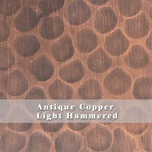 SINDA Copper Color(Patina) Sample for Copper Range Hood, Copper Kitchen Sink (Antique Copper-Light Hammered)