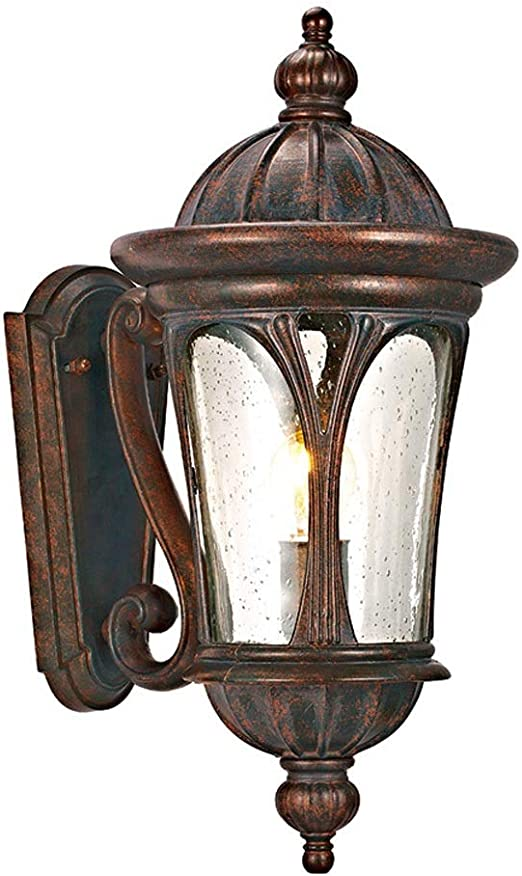 KMYX Linterna de Pared Exterior Antigua Americana en Acabado de ...