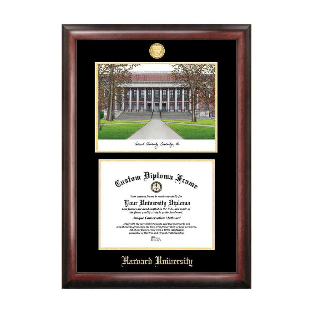 Campus Images MA992LGED Harvard University Goldpr-gung Diplom Rahmen ...