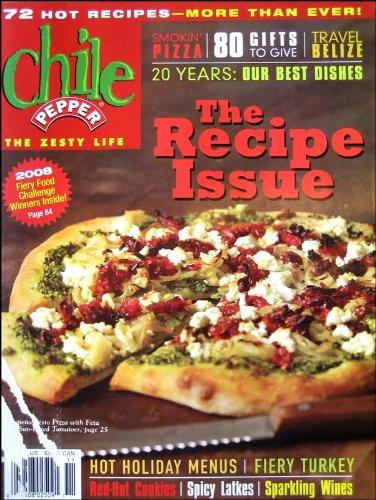 Chile Pepper Magazine November 2007 the Recipe Issue, Hot Holiday Menus, Fiery Turkey, Spicy Latkes