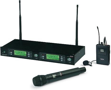 MICROFONO INALAMBRICO FONESTAR MSH-898 1xMANO + 1xSOLAPA UHF ...