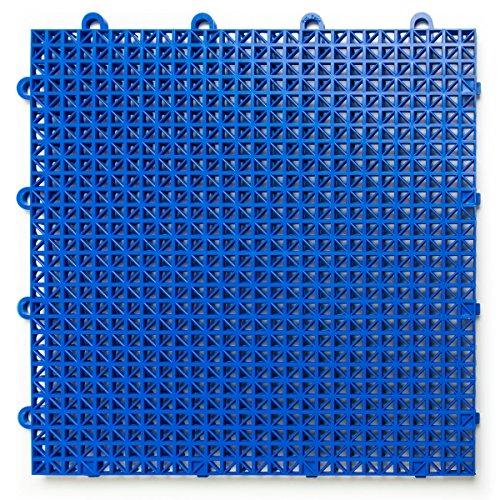 duragrid cr48royb cross-rib diseño, Modular multiusos seguridad de enclavamiento esteras, 48unidades, azul real, pieza