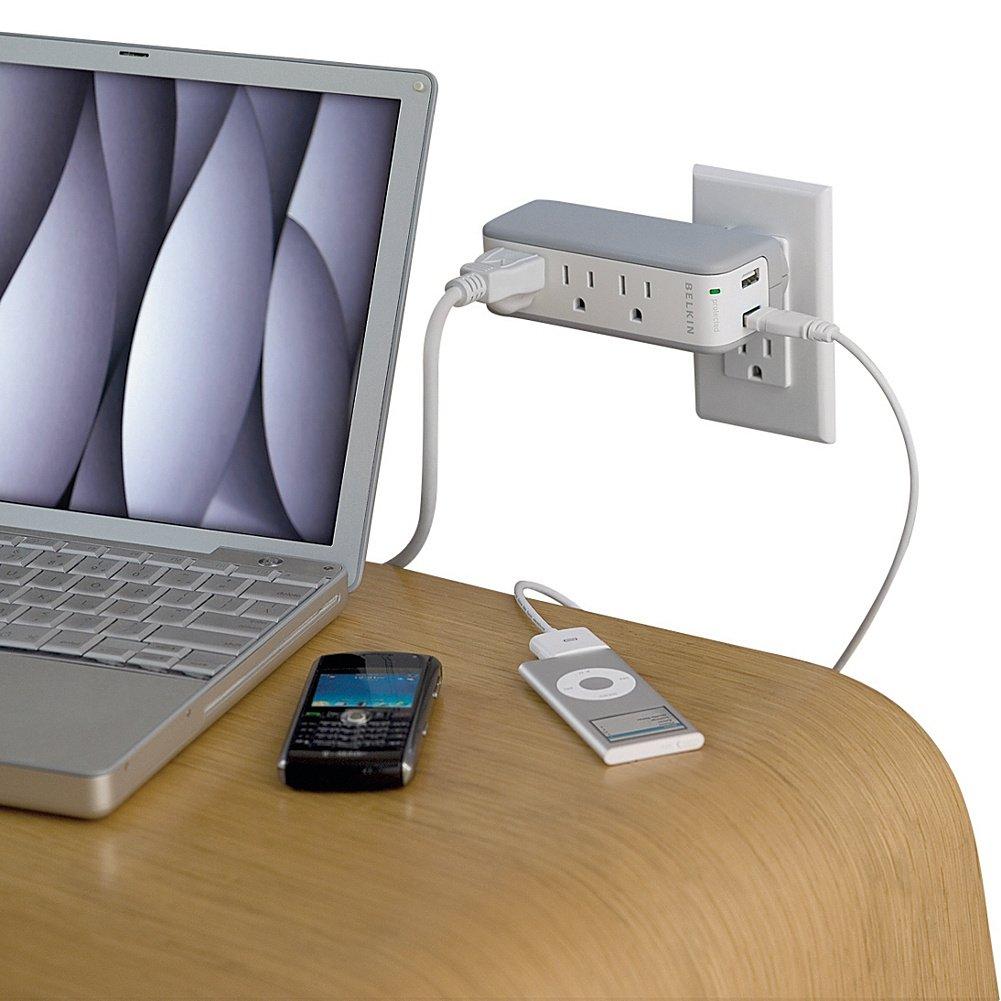 Belkin BZ103050TVL Mini Surge Protector and USB Charger