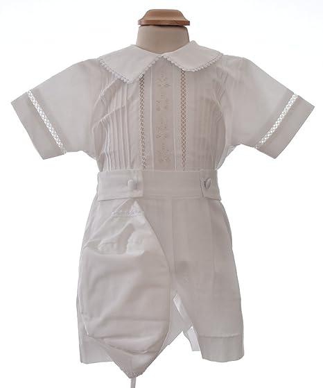 e53609c89a7fe Princesa Tenue de baptême pour garçon - Tenue Bermuda Short Court de baptême  en Tissu Shantung