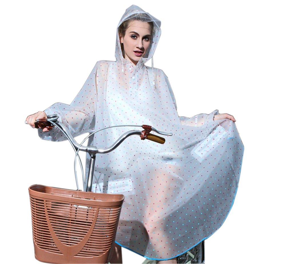 Lluvia Para Chaquetas de mujer Lluvia Poncho con capucha impermeable Chubasquero Moderno de ropa para bicicleta de lluvia Moto–Très Chic Mayo Landa, azul, talla única