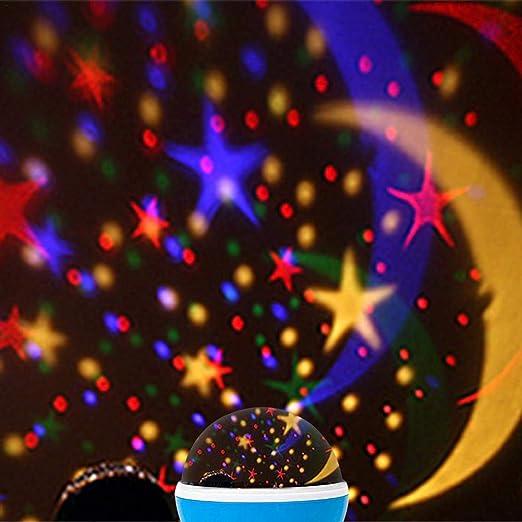 Lámpara de Nocturna, Infantil Lámpara Proyector Infantil 360 ...