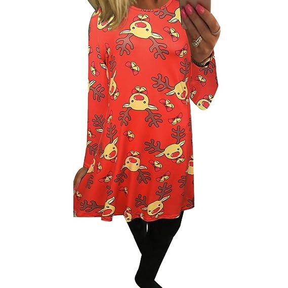 1b686bb25f610 ドレス レディース Kohore セクシー クリスマス ワンピース レディース 長袖 ドレス ワンピース 可愛い ミニワンピース 欧米人気  Christmas