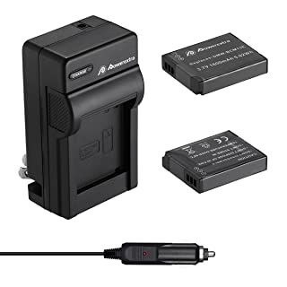 Powerextra 2 Pack Battery and Charger Compatible With Panasonic DMW-BCM13, DMW-BCM13E, DMW-BCM13PP and Panasonic Lumix DMC-FT5, DMC-TS5, DMC-TZ37, DMC-TZ40, DMC-ZS30, DMC-ZS35, DMC-ZS40, DMC-ZS45
