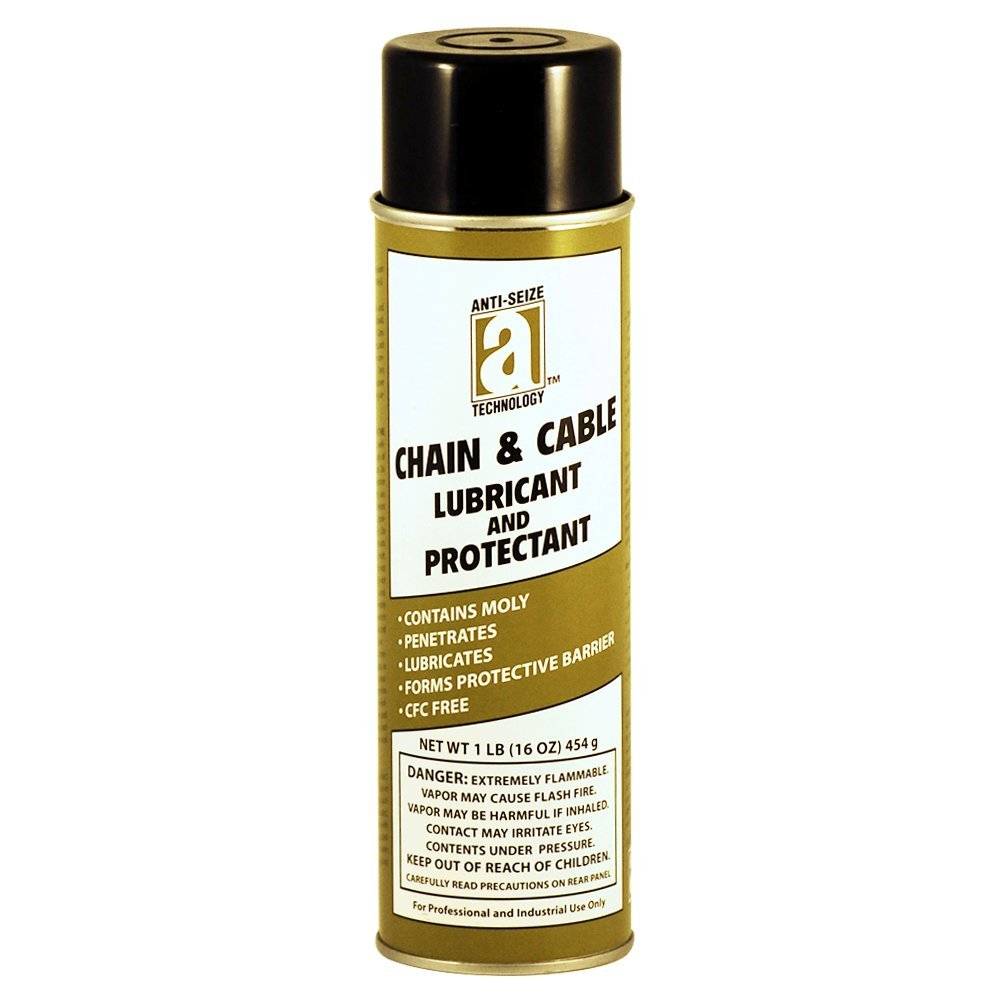 ANTI-SEIZE TECHNOLOGY 17040 Chain and Cable Lubricant, 16 oz Aerosol ...