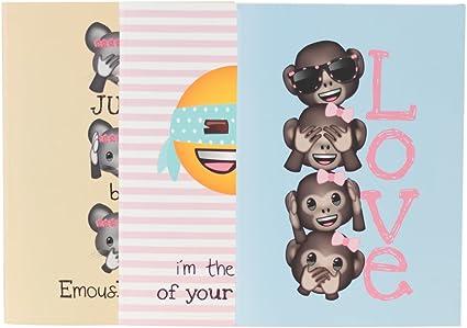 El Jardin de Noa EBN1006D - Pack 3 cuadernos, A5: Emoji By Noa: Amazon.es: Oficina y papelería