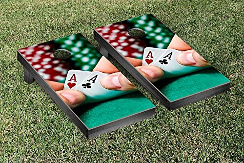 Poker Hand Cornhole Game Set by Victory Tailgate
