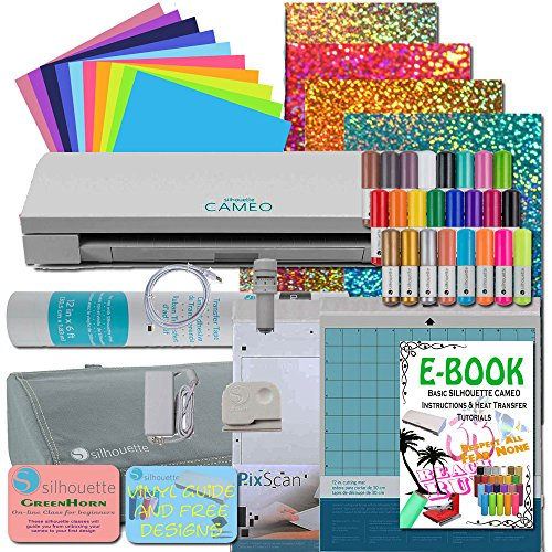 Silhouette Cameo 3 BLUETOOTH Vinyl Transfer Paper Tools and Pens Bundle by Cameo