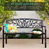 Best Choice Products 50in Steel Garden Bench for