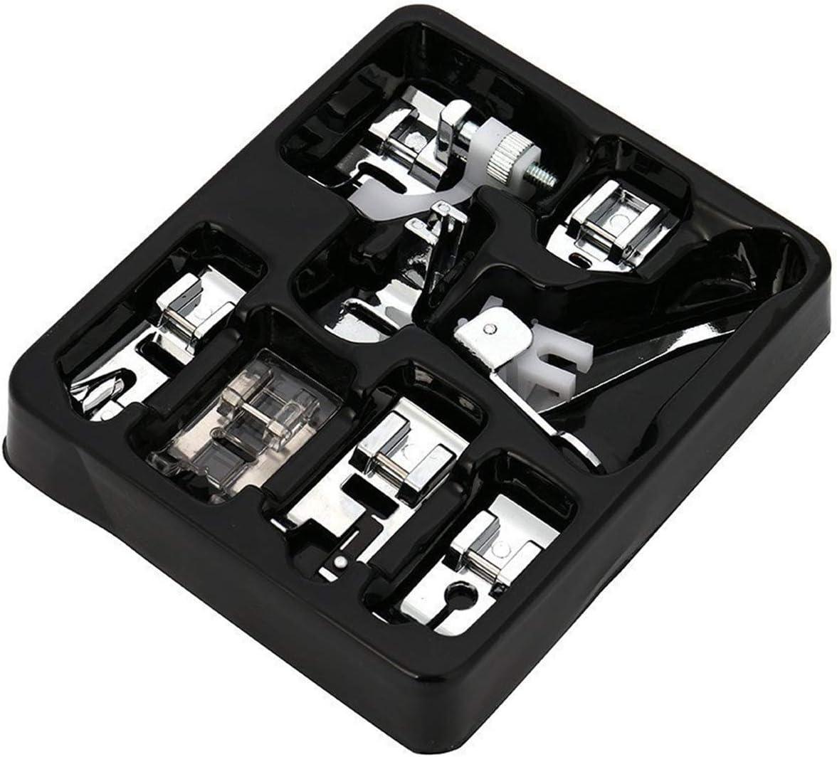 CKPSMS - Kit de prensatelas para máquinas Singer, Brother, Janome, Elna, Kenmore, vástago bajo, 8 unidades
