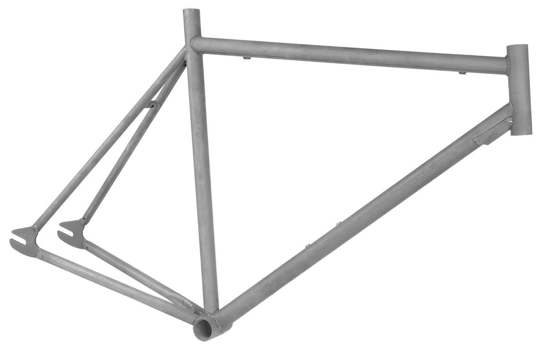Rahmen + Gabel Singlespeed Raw Phosphatiert roh Stahl 3 Größen ...