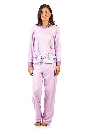 9093bfe17939 Casual Nights Women s Crew Top Long Sleeve Pajama Set - Purple - X-Large