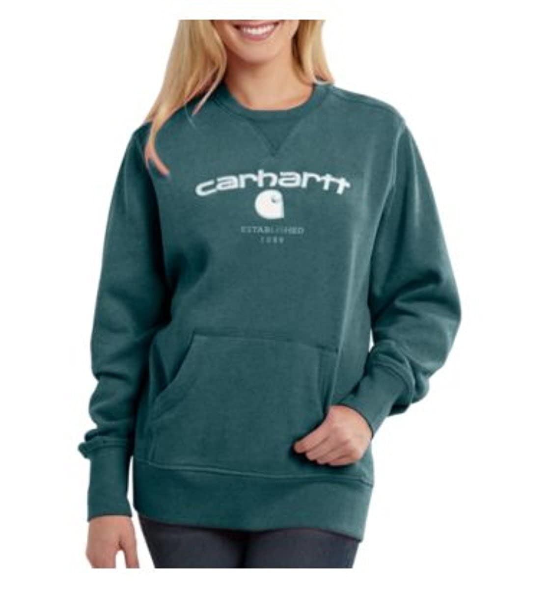 Amazon.com: Carhartt Women s Burket Graphic sudadera: Clothing