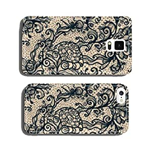 Abstract seamless lace pattern with flowers. cell phone cover case Samsung S5