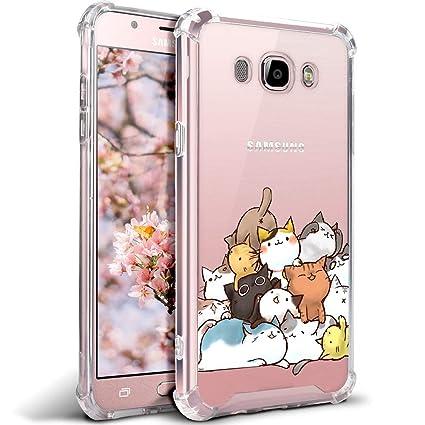 Amazon.com: Carcasa para Samsung Galaxy J7, diseño de gato ...