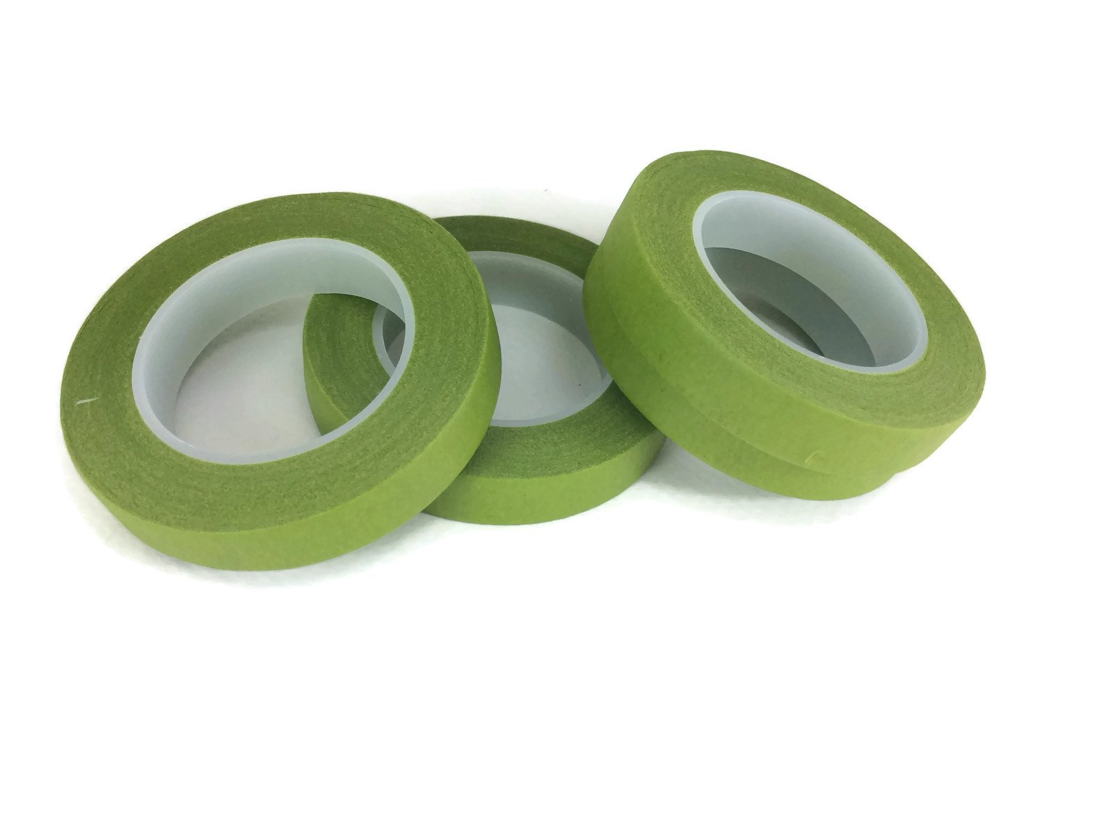 Floral Tape Green 4 Rolls 30 Yards Foral Dark Glue Cohesive 12 mm Pair Artificial Flower Stem Tool