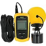 Lixada Ecoscandaglio da Pesca 100M/328ft Portatile del Sonar LCD Wired Finder Ecoscandagli Cercatori dei Pesci Allarme