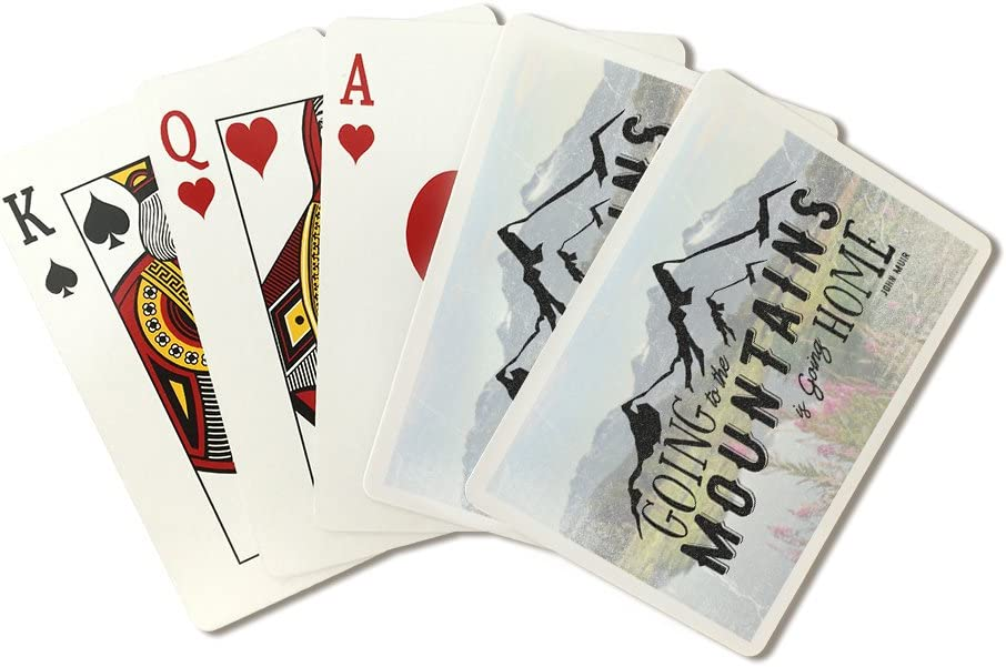 John Muir Quote - Going to the Mountains is Going Home (Playing Card Deck - 52 Card Poker Size with Jokers)