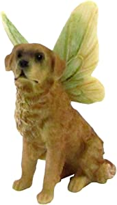 TG,LLC Treasure Gurus Miniature Golden Retriever Figurine Fairy Garden Accessory Mini Dog with Wings Dollhouse Decor Ornament