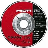 Hilti 436692 4 1/2-Inch x 1/4-Inch x 7/8-Inch Type 27 Universal Premium Grinding Wheel, 10-Pack