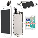 Screen Replacement For iPhone 6 LCD Touch Display - White Recyco Full Set With Frame Glass Digitizer Assembly with Home Button and Camera