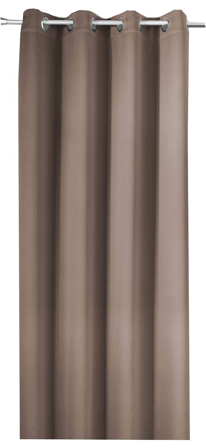 NOVUM fix Gardine Verdunkelungsvorhang mit OESEN Thermoeffekt  MASSANFERTIGUNG bis 350cm Länge Taupe