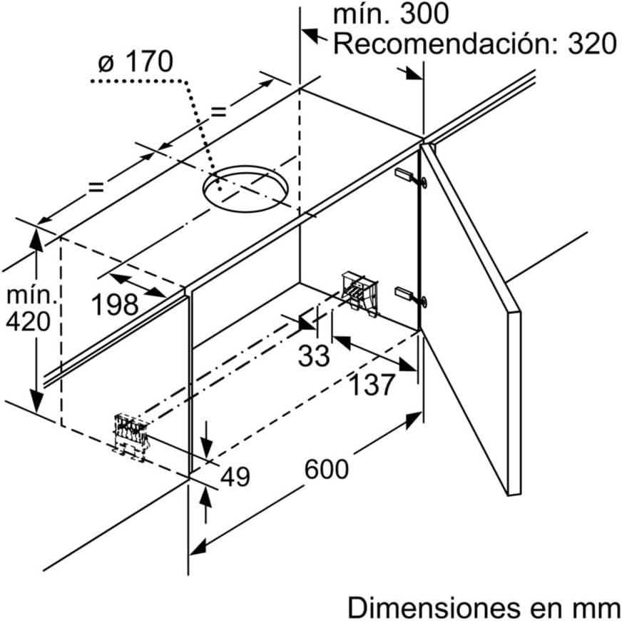 Balay 3BT860X - Campana (740 m³/h, Canalizado, A, A, B, 55 dB ...