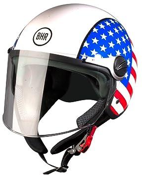 BHR 93815, Casco de Moto, color USA, talla 61 (XL)
