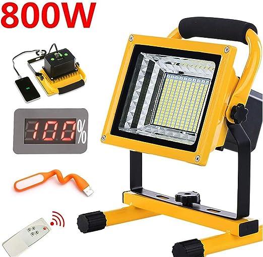 800W 9000LM Foco LED Portátil Exterior Recargable, Proyector LED ...