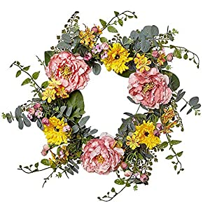 VGIA 20 Inch Artificial Flower Wreath for The Front Door 28