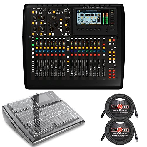Bus Console Recording 8 (Behringer X32 COMPACT Digital Mixing Console with Decksaver Cover and 25ft XLR Cables)
