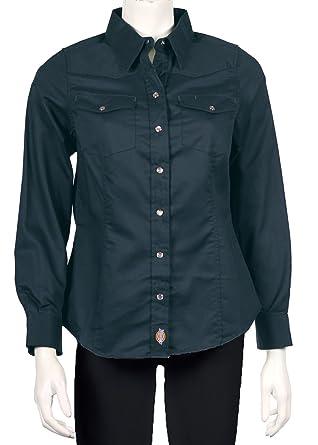 3b326d0e3a7 Dickies Women s Long Sleeve DuraComfort Shirt at Amazon Women s Clothing  store  Button Down Shirts