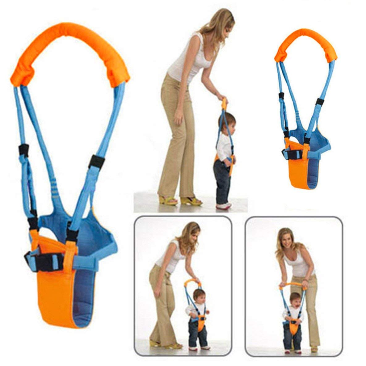 4 In 1 Functional Safety Walking Walker Harness for Baby 7-24 Month Noradtjcca Baby Walking Assistant Toddler Walking Harness Handle Baby Walker,Standing Up and Walking Learning Helper for Baby