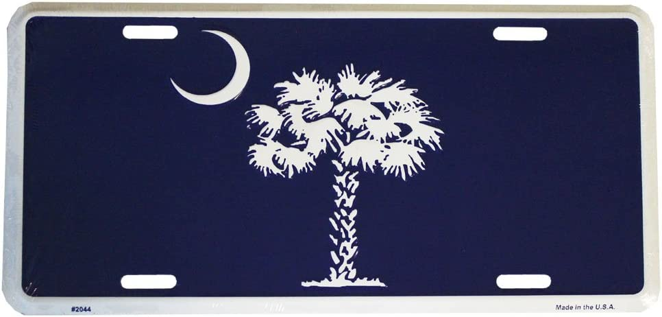 Sc Palmetto Tree South Carolina License Plate Frame Auto Car Novelty Accessories License Plate Art Id Rather Be In Charleston