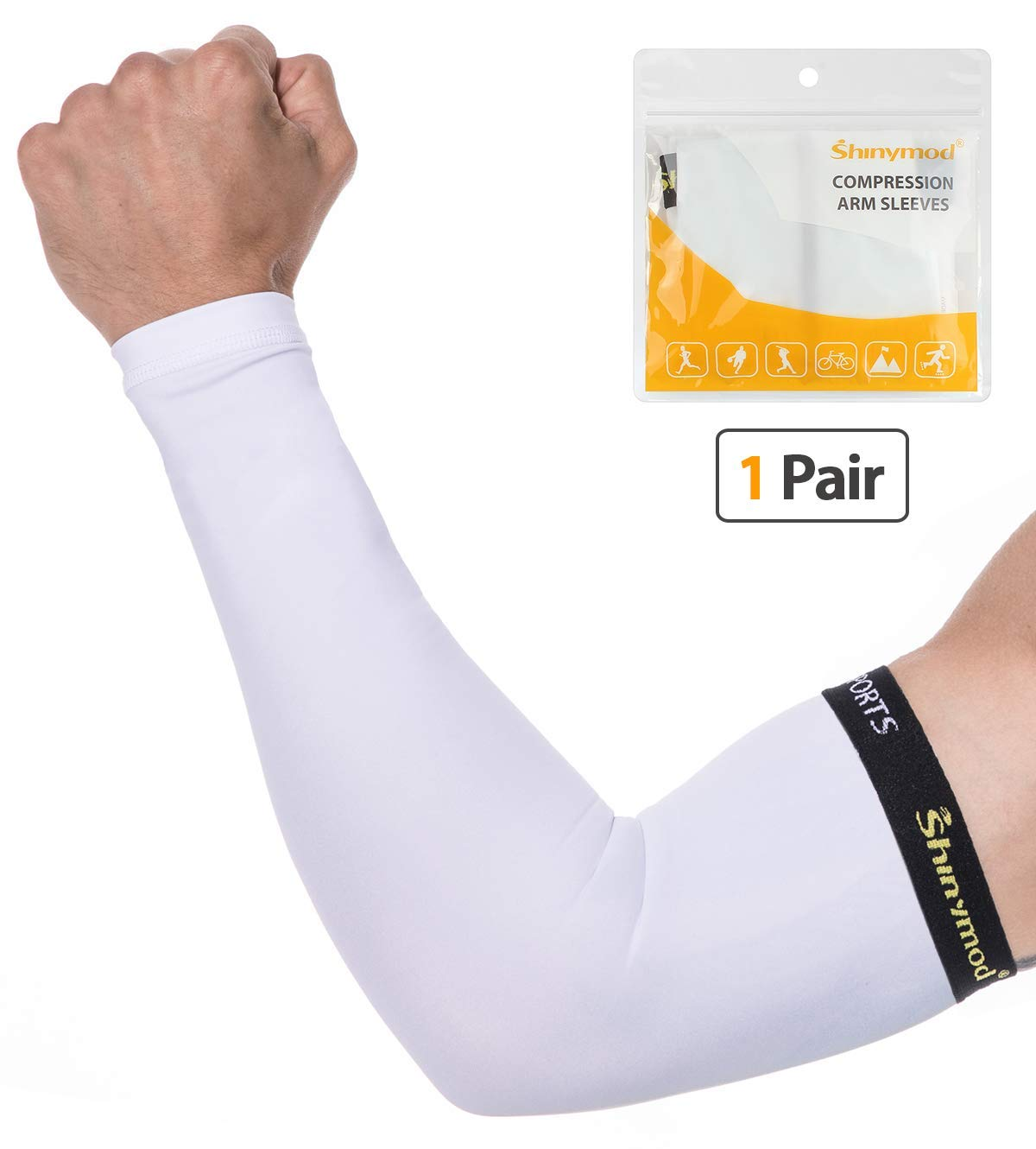 Black Sun Protection Arm Cooling Sleeve Warmers Cuffs UV Protection Sleeves WU
