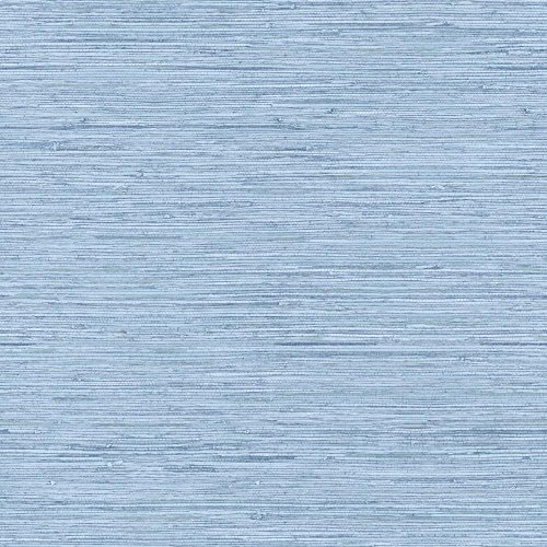 York Wallcoverings WB5504 Nautical Living Horizontal Grass Cloth Wallpaper, Faded Denim Blue/Chambray (Chambray Wallpaper)