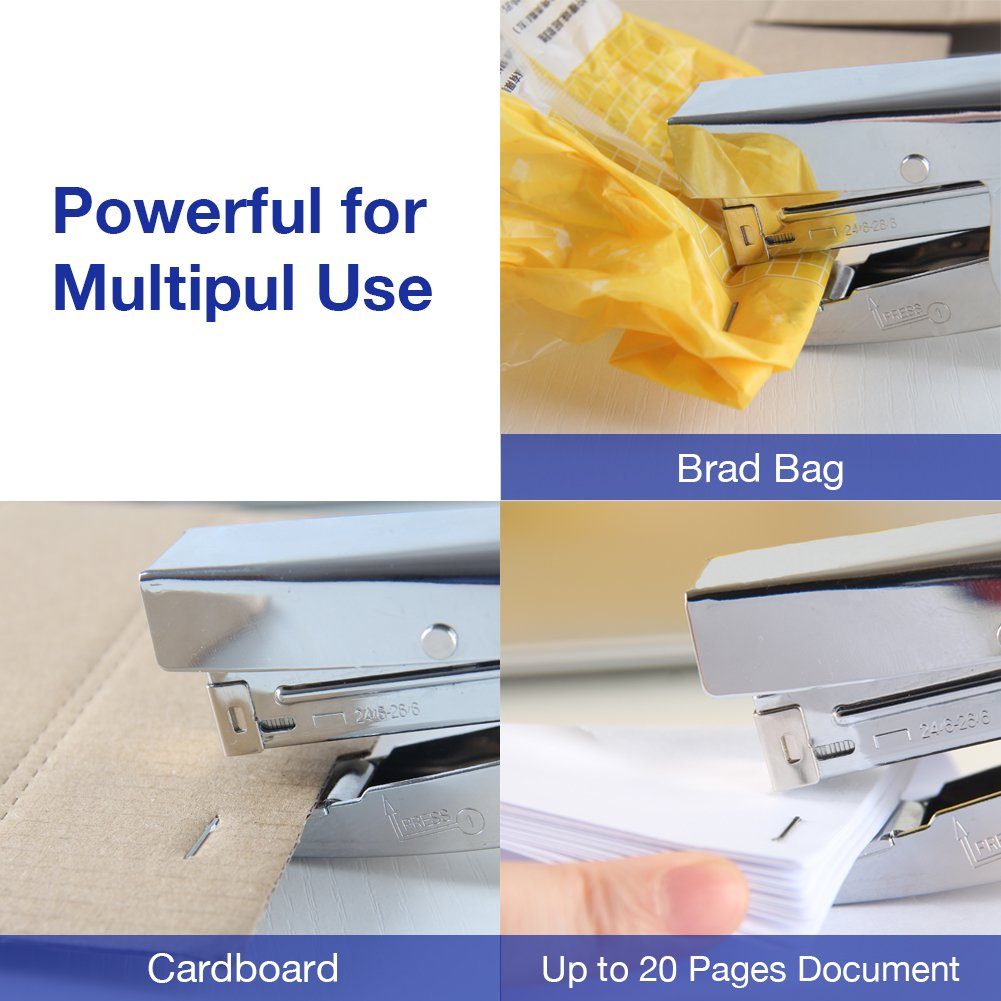 LandHope Stapler with 1000 Staples and Remover Set 20 sheets Capacity Full Desktop Office Size Work