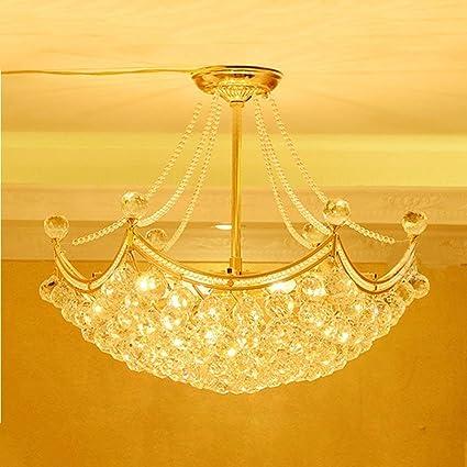 AWCP Araña Araña Lámpara de Oro Hexagonal Comedor Restaurante Piso de Cristal Dúplex Villa Moda Salón