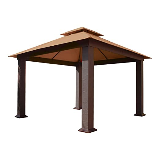 STC gz734s 12 x 12 ft. Sevilla Cenador con Sunbrella Canopy (Cocoa ...