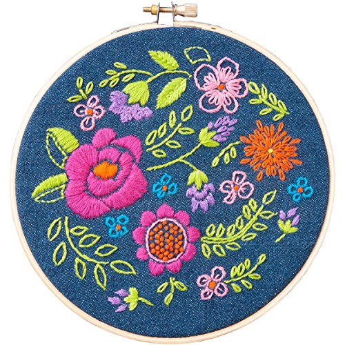 Bucilla WM46228E Floral Explosion Stamped Embroidery Kit-6